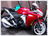 今までの積載例:バイク/HONDA CBR250