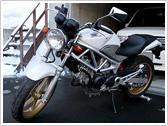 今までの積載例:バイク/HONDA VTR 250