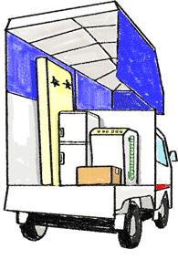 荷台は見た目以上に広々としている赤帽の軽トラック!