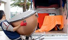 札幌赤帽ブルーノート運送では、管・弦・打楽器全般や美術品搬送の取り扱いできます
