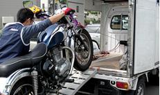札幌赤帽ブルーノート運送では、バイク・除雪機・北海道内の陸送も可能です。50cc~大型車までOK